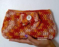 Tecendo Artes em Crochet: Clutch Lacinho - Um Doce de Bolsinha!