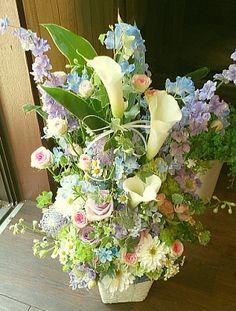 花ギフトのプレゼント【BFM カラーを使ったナチュラル  そんなフラワーアレンジメント   http://www.basketflowermarkets.com