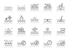 Skin line icon set. Included icons as collagen, beauty, skincare,… – – Adalia MD. Japan Icon, Energy Symbols, Real Love Spells, Science Icons, Map Icons, Love Spell That Work, Skin Line, School Icon, Education Icon