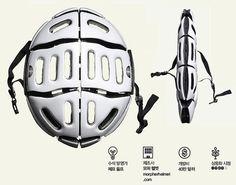 접이식 자전거 헬멧 이미지 1