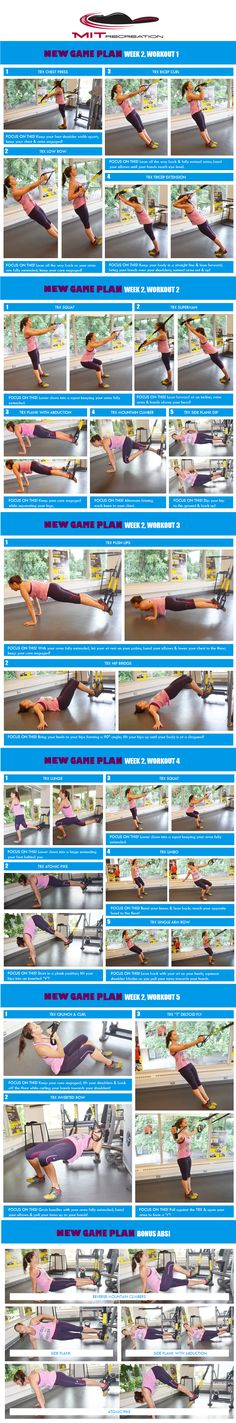 New Game Plan MIT Week 2 - Are you ready for NEW Game Plan week two? These TRX workouts are a sure way to challenge your muscles! http://thepageantplanet.com/category/diet-and-exercise/