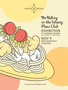 The Hiding-in-the-Wrong-Place Club X Mimibuloveme by Andy Wang, via Behance