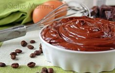 Crema al cioccolato fondente e caffé