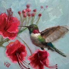Krista Eaton Gallery of Original Fine Art Watercolor Hummingbird, Hummingbird Art, Bee Painting, Painting & Drawing, Pictures To Paint, Art Pictures, Hummingbird Pictures, Bird Artwork, Bird Drawings