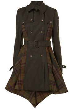 Topshop - Best Of British - Check Asymmetric Hem Trench Cost 460 Costume, Refashion, My Wardrobe, Pretty Outfits, Autumn Fashion, Cosplay, Parka, Stylish, My Style