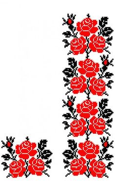 Poze FL082 Cross Stitch Borders, Cross Stitch Flowers, Cross Stitch Designs, Cross Stitching, Cross Stitch Embroidery, Cross Stitch Patterns, Local Embroidery, Types Of Embroidery, Hand Embroidery