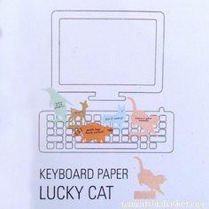Notas para Teclado Lucky Cat - TWO CATS IN A BASKET