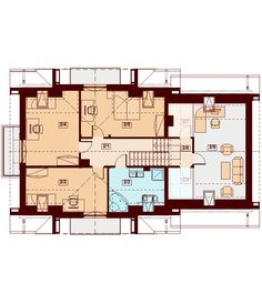 DOM.PL™ - Projekt domu DN KARMELITA GOLD 2M CE - DOM PC1-56 - gotowy koszt budowy Malaga, Planer, House Plans, Floor Plans, House Design, Gold, Ireland, Thailand, House Ideas