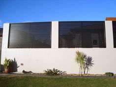 painted slat front fence - Google Search