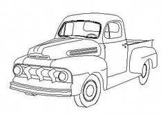 Vintage Trucks Classic A drawing of a 49 - Ford Truck Enthusiasts Forums Old Pickup Trucks, Lifted Ford Trucks, Classic Chevy Trucks, Classic Cars, Kombi Pick Up, Truck Coloring Pages, Truck Art, Car Drawings, Pencil Drawings