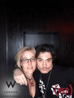 #GillianAnderson at the RED Charity event at #Whotels #London.  Captured using GIF/GIF #lovegifgif