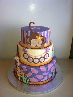 Cocalo Jacana monkey baby shower cake