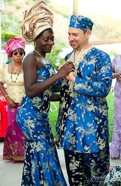 Ghanaian style wedding in LA.