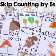 These free skip counting by 5s clip cards are a great way to review skip counting with your students!