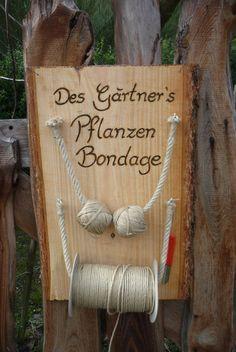 Männergeschenk-Gartendekoration-Bondage ♥ von Holz- Kreativ auf DaWanda.com