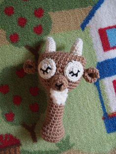 Amigurumi Sleepy Billy Goat Baby Rattle Pdf Pattern