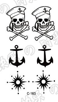 Waterproof tattoos The skeleton anchor tattoo stickers Men and women tattoo stickers,Temporary Tattoo-in Temporary Tattoos from Health & Beauty on Aliexpress.com | Alibaba Group