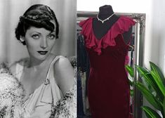 Old Hollywood Dress, Old Hollywood Glamour, 1920s Fashion Dresses, 1930s Style, Bias Cut Dress, Red Velvet Dress, Cocktail Dress Prom, Red Colour, Red Midi Dress