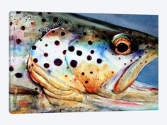 BROWNS EYE VIEW giclee print from an original watercolor painting by Dean Crouser (original is sold). This print is available in a variety of Fish Artwork, Canvas Artwork, Canvas Prints, Watercolor Fish, Watercolor Paintings, Art Paintings, Watercolor Paper, Watercolours, Caspar David Friedrich