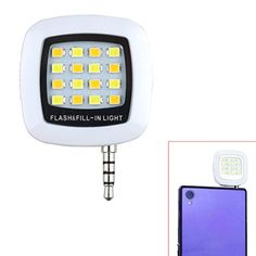 Tera Portable 16 LED Smartphone Flash Filllight with Mini USB Charging Port for Android IOS WP8 Cellphones and Tablets such as iPhone 6 plus 6 5s 5 4s 4 Samsung Galaxy S6 Edge S6 S5 S4 S3 A7 A5 Galaxy Note 4 3 2 Blackberry Bold Touch Sony Xperia Motorola Droid and Other Smart Phones White with Tera Dust Cloth ** Click image to review more details.
