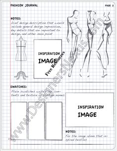 Fashion Design Journal Inspiration Page Layout V10 - Designers Nexus