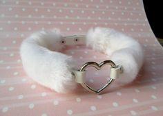White Fur Choker, BDSM Collar, DDLG Collar, Heart Choker, Furry Choker Collar, Day Collar, Fluffy Choker, Fuzzy Chocker Necklace by Kerenika on Etsy https://www.etsy.com/listing/462555113/white-fur-choker-bdsm-collar-ddlg-collar