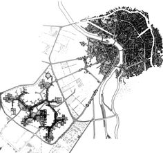 Tourluse-le_Mirail by Candillis and Woods. In response to CIAM's city plans Toulouse, Architecture Drawings, France, Master Plan, Urban Planning, Urban Design, Geography, Cool Designs, How To Plan
