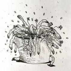 www.lucas2d.com #sketch #sketchbook #draw #drawing #ink #illustration #pot #doodle #flower #flowers #flor #flores #leaf #leaves #nature #natureza #folha #folhas #natural #artwork #beautiful #wood #plant #plants #love #fun #graphic #like #desenho #art