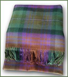 Beautiful ombre colors in this Isle of Skye Tartan Blanket.