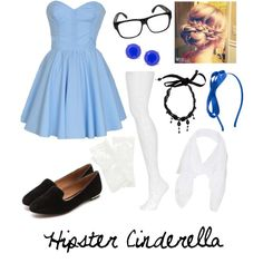 Hipster Cinderella. it would be fun to dress up  as hipster princesses for halloween sometime.