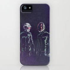 The Robots iPhone & iPod Case by I Heart JLP - $35.00  it's no secret i love Daft Punk. the day they announced the release date for their recent album i illustrated the Robots.  available for Apple iPhone and Samsung Galaxy S4
