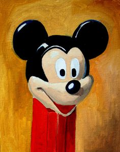 Mickey Mouse Pez Oil Painting Still Life by PatrickFlynn on Etsy, $100.00