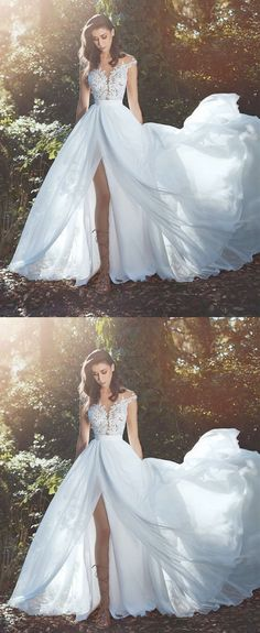 chiffon wedding dressesbeach wedding dressesboho wedding dresssummer wedding dresses