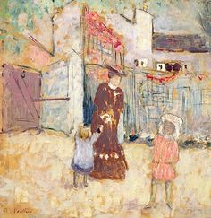 Woman and Children, 1904 (oil on canvas), Vuillard, Edouard (1868-1940)