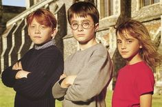 harry, ron, & hermione-- so young!