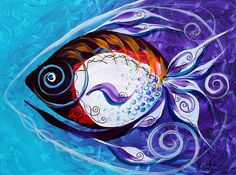 """""""Old School Native"""" (2013) Abstract Fish Art from J. Vincent Scarpace, Artist"""