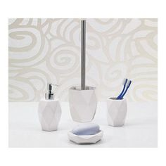 Gedy by Nameeks Laundry 4 Piece Bathroom Accessory Set