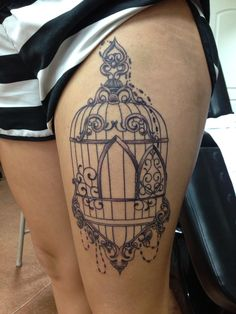 Bird cage, possibly less decorations.