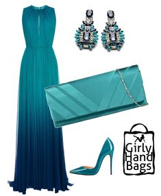 Teal satin clutch bag www. Special Dresses, Cute Dresses, Beautiful Dresses, Formal Dresses, Satin Dresses, Classy Outfits, Pretty Outfits, Stylish Outfits, Dress Outfits