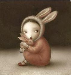 Art et Cancrelats: Nicoletta CeccoliYou can find Nicoletta ceccoli and more on our website.Art et Cancrelats: Nicoletta Ceccoli Art And Illustration, Enchanted Doll, Arte Lowbrow, Lapin Art, Art Fantaisiste, Mark Ryden, Bunny Art, Bunny Bunny, Arte Pop