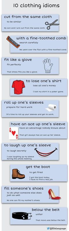 10 clothing idioms #learnenglish: