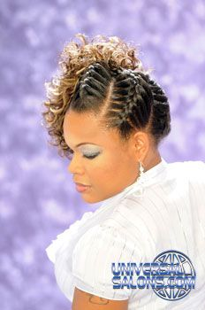 Black Hair Salons, Styles and Models - Universal Salon(front) Fancy Hairstyles, Creative Hairstyles, Twist Hairstyles, Bride Hairstyles, Beautiful Hairstyles, Black Hairstyles, Goddess Braid Styles, Goddess Braids, Natural Hair Braids