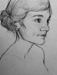 Self portrait; mechanical pencil in a cheap sketchbook Mechanical Pencils, Female Portrait, Pencil Art, Cgi, Faces, Tutorials, Mood, Drawings, Inspiration