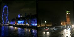 Travel Inspiration for London - London at Night time - Big Bed and The London Eye #london #travel