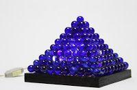 Artesanato, luminária de bolas de gude