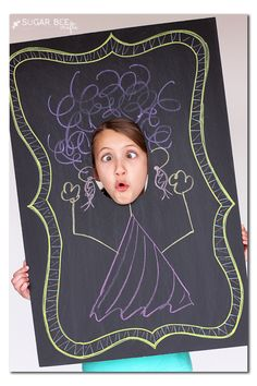 DIY Chalkboard Face In the Hole