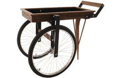 carrinho de bar com roda de bicicleta