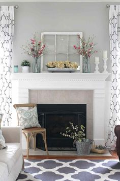 20 Living Room Designs with Fireplaces