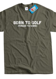 Funny Golfing TShirt Golf TShirt Born To Golf by IceCreamTees, $14.99