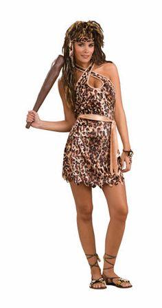 Cave Beauty Cavewoman Adult Womens Halloween Costume #CompleteCostume